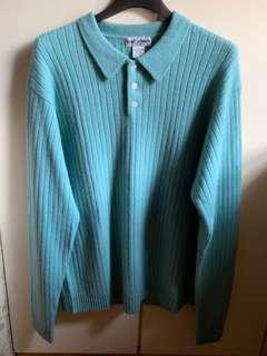 100% pure cashmere 100%純茄士咩 淺綠色或淺灰冷衫