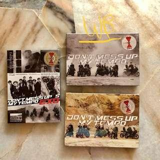 EXO Don't Mess Up My Tempo (Free folded poster) - Sealed / Ready stocks