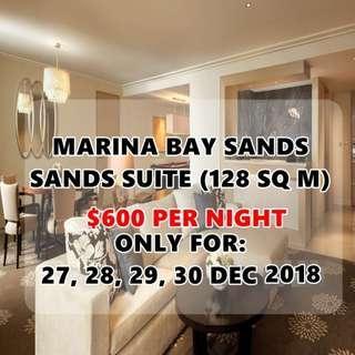 MARINA BAY SANDS HOTEL - SANDS SUITE