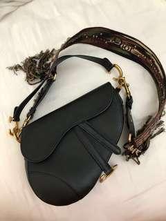 Dior Black Saddle Bag GHW