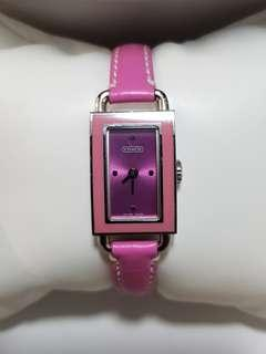 Coach watch in Pink leather strap