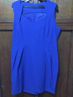 Dorothy Perkins Blue Shift Dress in Bright Blue