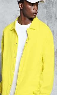 🚚 Forever 21 Mens/unisex Yellow Coach Jacket