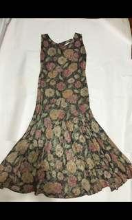 60's evening dress