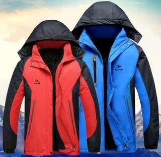 5472325348b Winter Warm Thick Jacket Coat Mountaineering Snow Mountain Hiking Travel  Fishing Skiing Detachable Hooded Hood Waterproof
