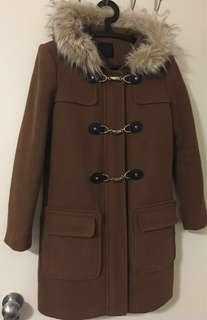 Duffel coat with removable fur from Dynamite