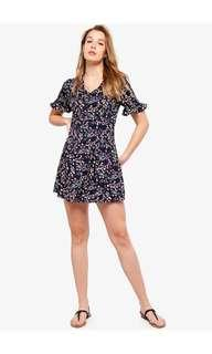 Button Down Dress (Patterned)