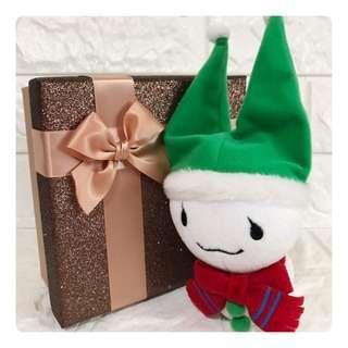 🚚 可愛小雪人娃娃 禮盒  玩偶 吊飾  禮物