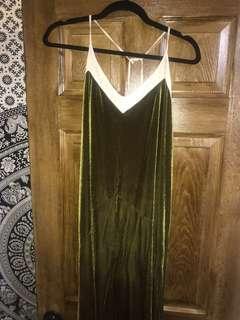 Green Velvet Zara Dress