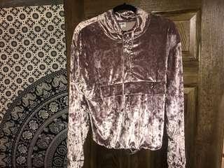 Pink Crushed Velvet Sweater (Frank and Oak)