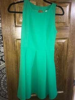 Green Peplum Style dress