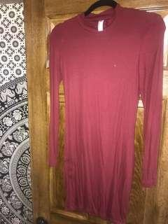 Burgundy American Apparel Bodycon Dress
