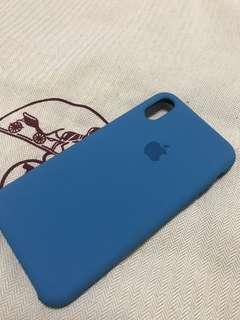 清貨大優惠!!! 🈹大割價🈹 100% Apple Orignial iPhone Xs Silicone case Blue 蘋果原裝手機殼 藍色