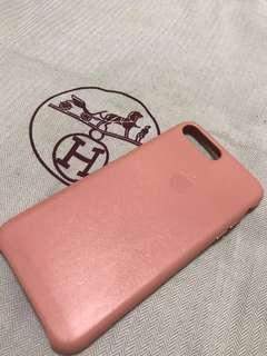 清貨大優惠!!! 🈹大割價🈹 100% Apple Orignial iPhone 7/8P Leather Case Pink 蘋果原裝手機殼 粉紅