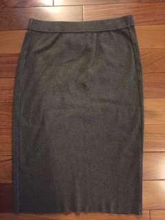 Talula Olive Cotton Knit Skirt Size M