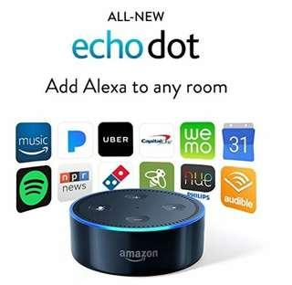 Amazon Echo Dot 2nd Generation Alexa AI Voice Control Assistant With Bluetooth Support and Volume Control