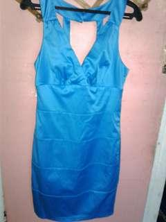 Branded Satin blue dress