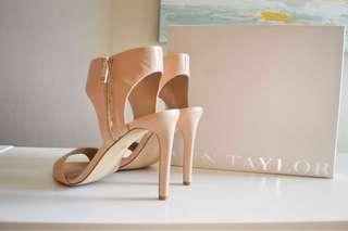 Nude cut out sandals