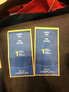 Cineplex tickets