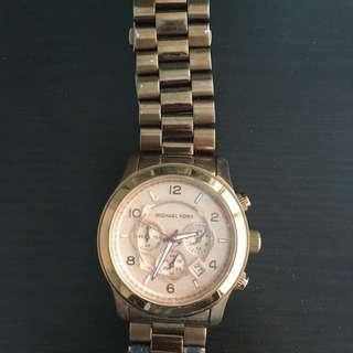 Large Rose Gold Michael Kors Watch