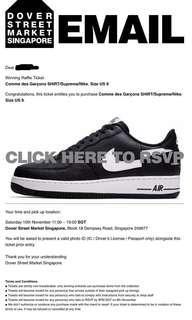 CDG Supreme Nike AF1