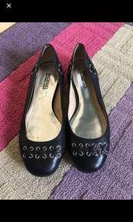 Authentic MK black flat shoes