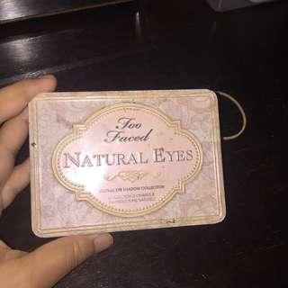 Authentic Too Faced Natural Eyes Eyeshadow Pallate
