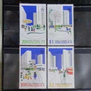 [lapyip1230] 香港 1981年 公共房屋 原膠新票無背貼全套 Set MNH