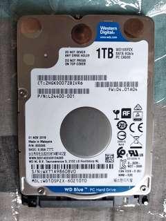 Hard Disk 1TB Brand WD Man Nov 2018 (NEW - Open Box)