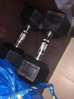 12.5 kg dumb bells