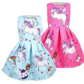 (Pre-order) Unicorn Princess Dress (2 Colours) #605