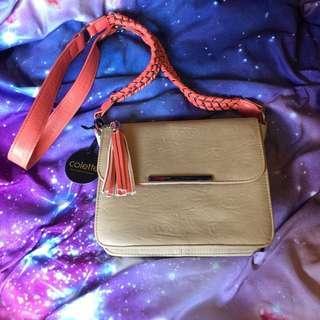 COLETTE BEIGE-CORAL Handbag