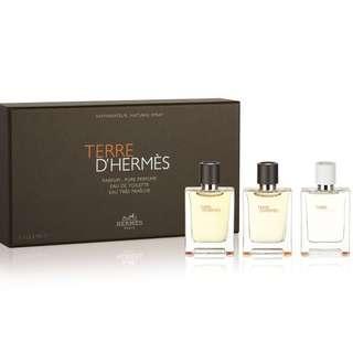 Terre D'Hermes 12ml x 3 EDP EDT Eau Fraiche Mini Set