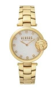 Versus Versace Lion Head Gold Watch