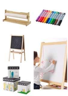 Ikea Mala Easel and Paint/Draw Storage