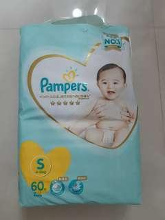 Pampers 尿片, S size, 60片裝