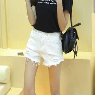 BN - White Shorts - Plus Size XXXL