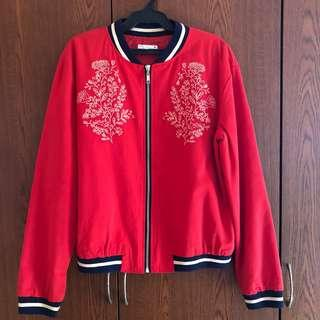 Bench Red Bomber Jacket