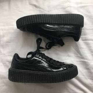 FENTY black leather creepers