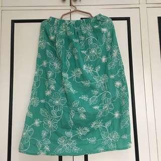 Embroidered Teal Skirt