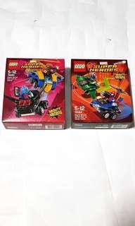 2x Lego Mighty Micros Star Lord vs Nebula & Spider-Man vs Green Goblin 76090 76064 new sealed