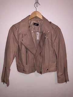 BRAND NEW Dusty pink leather jacket size 8