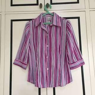 Purple and Pink Stripes Top