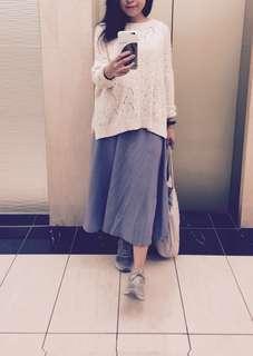 藍色 棉麻 長裙 #OhMyOutfit