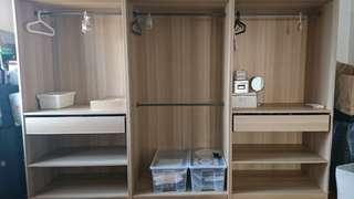 IKEA Wardrobes (Dual rods & drawers)