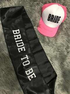 Bride to Be Set Cap & Sash