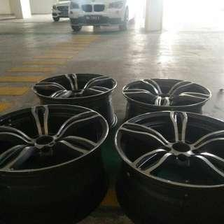 F30 F32 BMW X1 E92 E90 Msport Rims STAGGERED Taiwan PERFECT CONDITION MYR1500