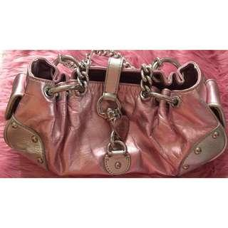 👑Juicy Couture Metallic Silver and Pink Chain Hand Bag👑