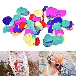 5000 Pieces Mix Colourful Heart Confetti Bridal Wedding Party