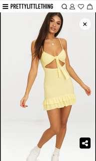Pretty Little Thing yellow dress